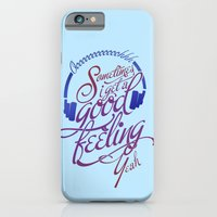 iPhone & iPod Case featuring Sometimes I Get A Good Feeling by Halucinated Design