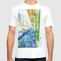 French Quarter Mens Fitted Tee White SMALL