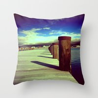 What's Up Dock?  Throw Pillow