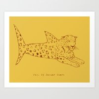 Jaguar Shark Art Print
