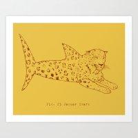 Jaguar Shark Art Print