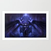 Black Angel Art Print