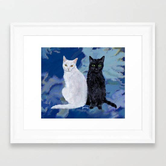 Kingston and Midnight Framed Art Print