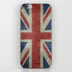 England's Union Jack (3:5 Version) National flag of the United Kingdom - Vintage retro version iPhone & iPod Skin