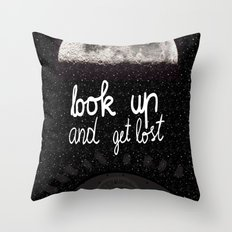 Look up and get lost  Throw Pillow