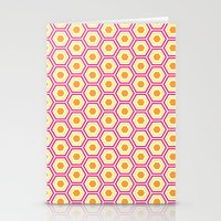 Colored Hexies Stationery Cards