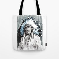 Native American Chief Tote Bag