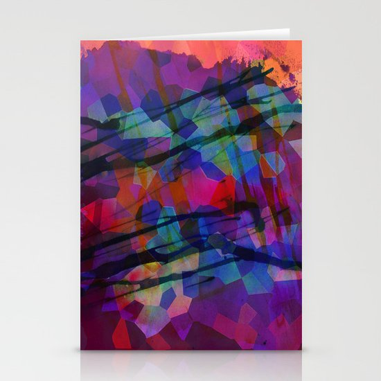 Pixel Splatter Stationery Card