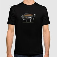 GrillBot Mens Fitted Tee Black SMALL