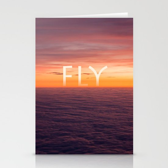 Above the clouds Stationery Card