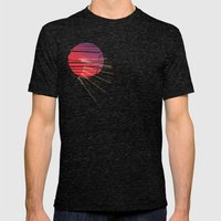 Sun Mens Fitted Tee Tri-Black SMALL