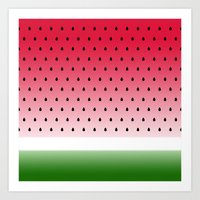 Juicy Watermelon Art Print