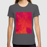 Saturated Branches Womens Fitted Tee Asphalt SMALL