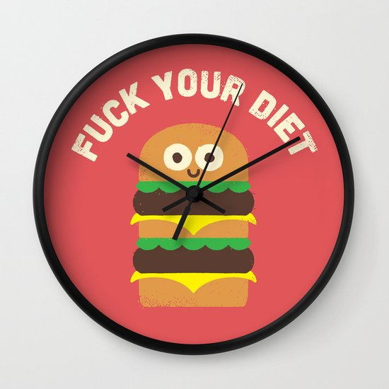 Discounting Calories Wall Clock