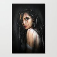 Pale Feathers Canvas Print