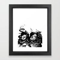 Beating Medusa Framed Art Print