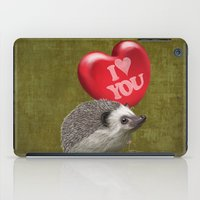 Hedgehog In Love With A … iPad Case