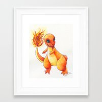 Little Charming Salamander Framed Art Print