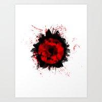 Broken Rose Art Print