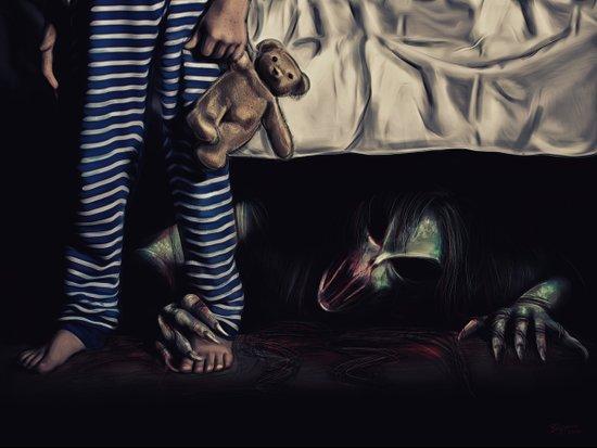 Nightmare Under the Bed Art Print