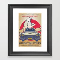 Who Ya Gonna Call? Ghost… Framed Art Print