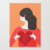 Love You Lady Canvas Print