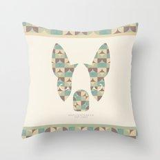 Boston Terrier: Circles. Throw Pillow