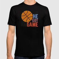 He Got Game Mens Fitted Tee Black SMALL