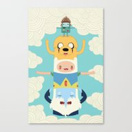 Adventure Totem Canvas Print