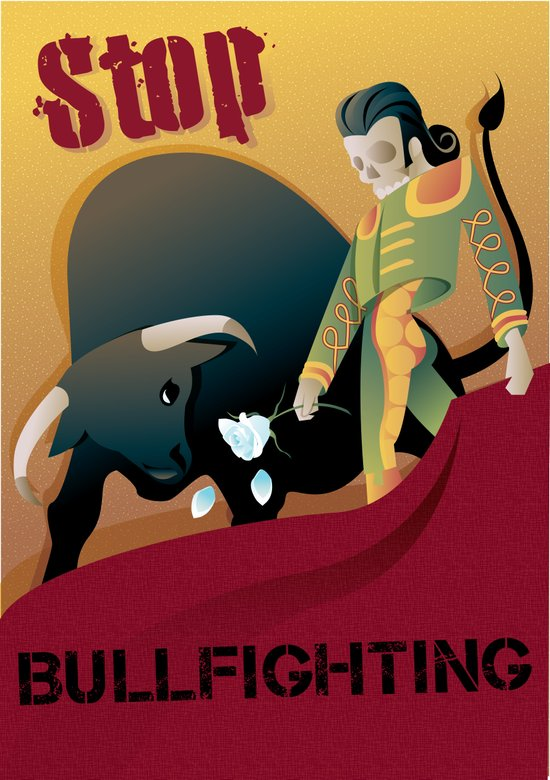 Stop Bullfighting Art Print