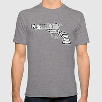 Why War? Mens Fitted Tee Tri-Grey SMALL