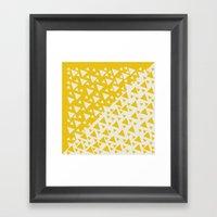 Yellow Triangles Framed Art Print