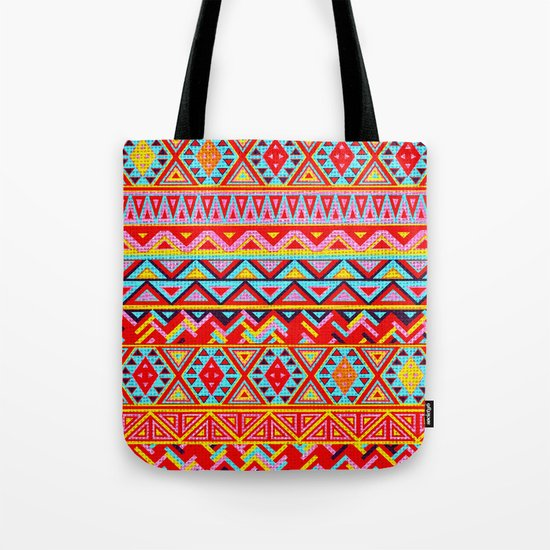 India Style Pattern (Multicolor) Tote Bag