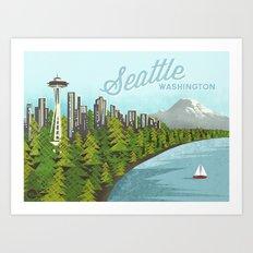 Seattle Sound Art Print