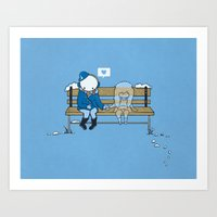 Art Print featuring Wish You Were Here by Boots