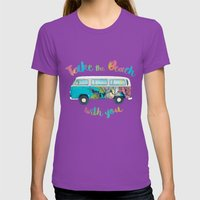 Take The Beach With You Womens Fitted Tee Ultraviolet SMALL