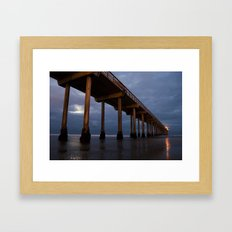 Piering into the Future Framed Art Print