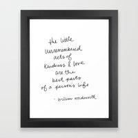 The Little Unremembered … Framed Art Print