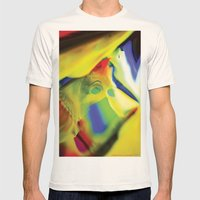Manifestation in Yellow Mens Fitted Tee Natural SMALL