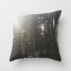Of light & trees Throw Pillow
