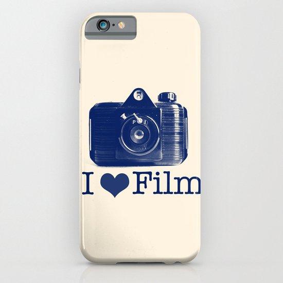 I ♥ Film (Blue/Peach) iPhone & iPod Case