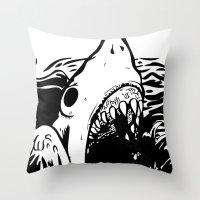 Shark off Throw Pillow