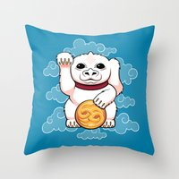 Lucky Dragon Throw Pillow