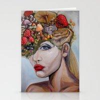 alice in wonderland Stationery Cards featuring Wonderland by HeatherIRELANDArtz