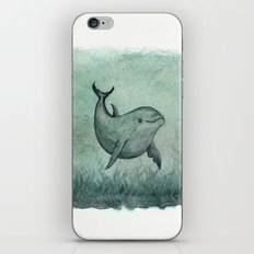 Notches, the Inshore Dolphin ~ Watercolor iPhone & iPod Skin