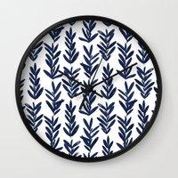Sage - Indigo Wall Clock