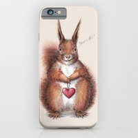 Squirrel heart love iPhone 6 Slim Case
