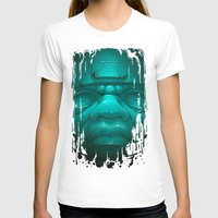 Olmeca III. Womens Fitted Tee White SMALL