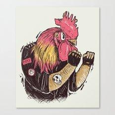 Cook-a-doodle Punk Canvas Print