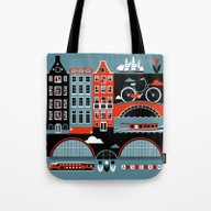 Tote Bag featuring Amsterdam by Koivo